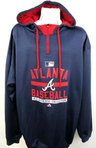 buy cheap 927de 80e6b Atlanta Braves Big Mens 4XL 2XT 3XT 1/4 Zip Pullover ...
