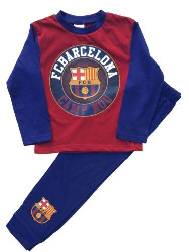 BC40 Boys Barcelona Football Club Pjs Pyjamas Personalise with Name