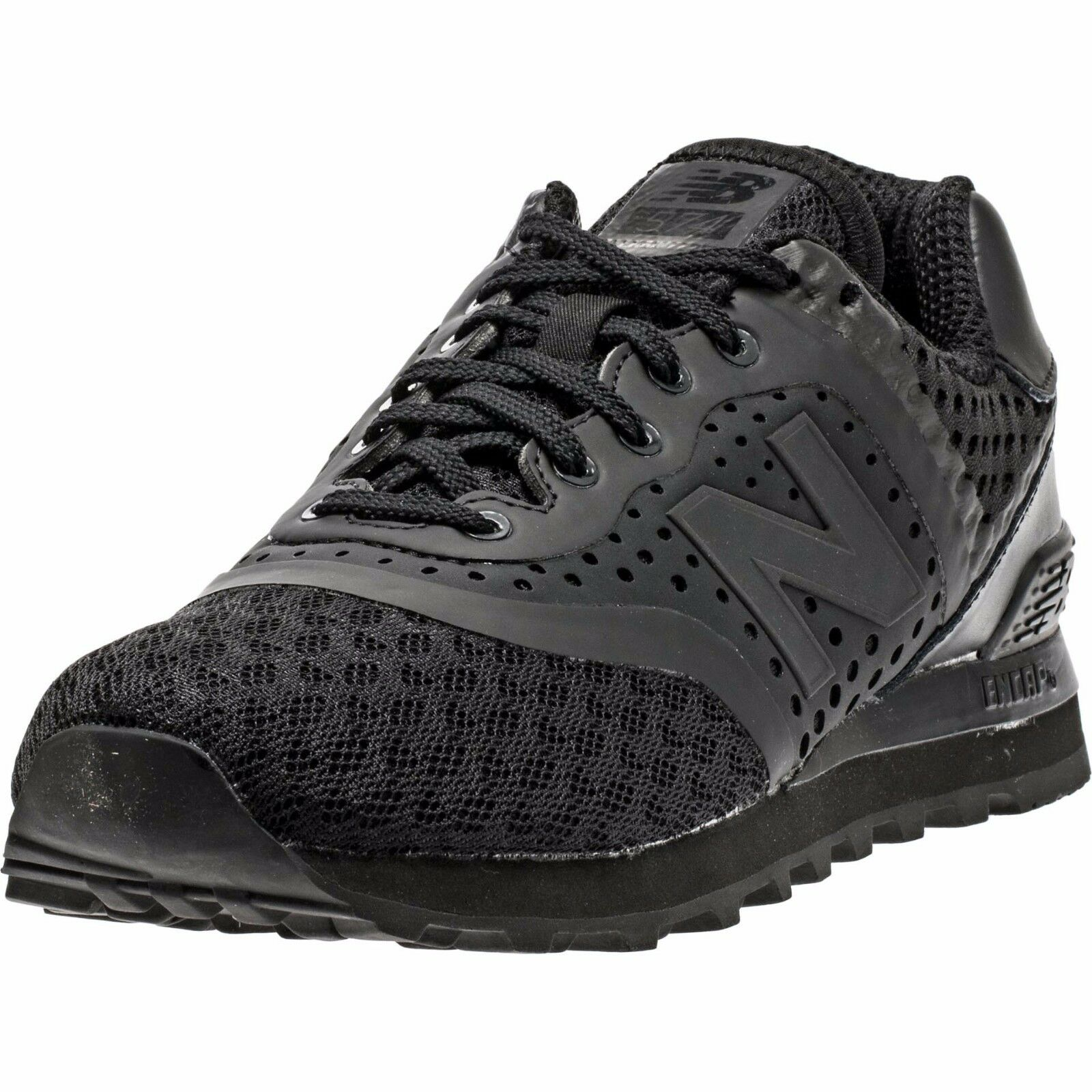 New Balance 574 Re-Engineered Breathe Solid Black Athletic Sneaker