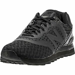 Details about New Balance 574 Re Engineered Breathe Solid Black Athletic Sneaker