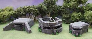 Pack de bunker Atlantikwall de 28 mm - peint au standard du collectionneur