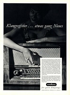 Rational Radio Nordmende Othello 3 D Xl 1955 Reklame Schweiz Klang Empfang Werbung +