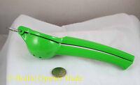 Green Lime Squeezer, Aluminum W/ Baked On Enamel Coating, Dishwasher Safe
