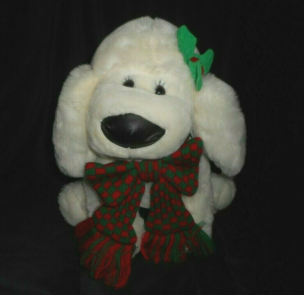 VINTAGE COMMONWEALTH CUDDLY MESSENGERS CHRISTMAS PUPPY DOG STUFFED ANIMAL PLUSH