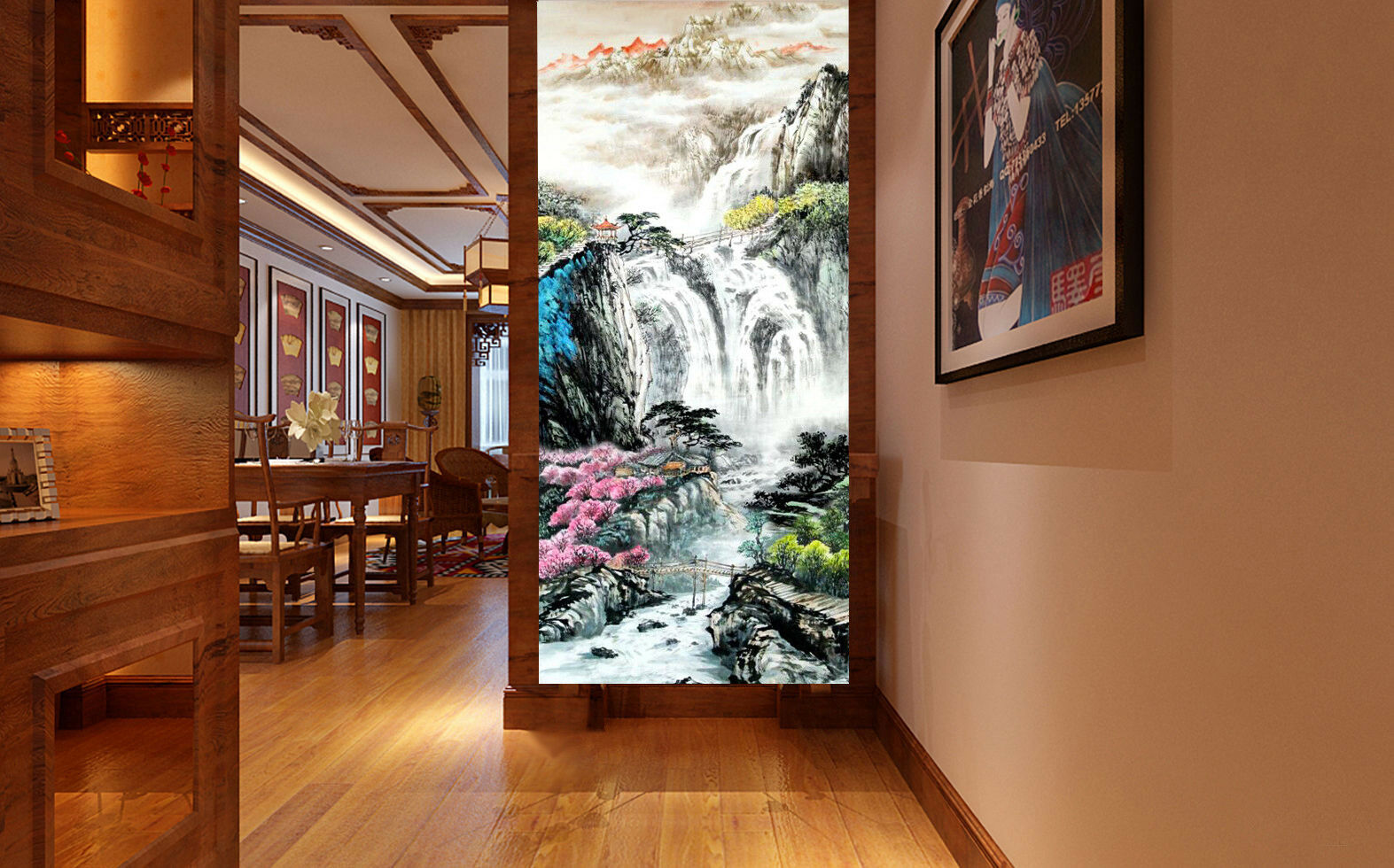 3D Waterfall Scenery 8 Wall Paper Murals Wall Print Wall Wallpaper Mural AU Kyra