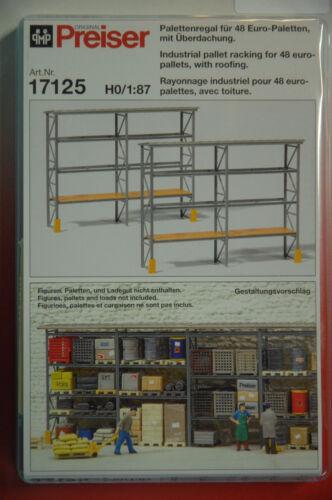 Preiser 17125 palettes étagère pour 48 Euro palettes avec capote kit HO neuf