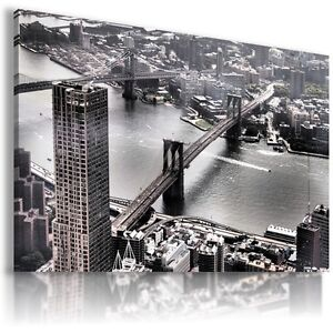 NEW-YORK-CITY-BRIDGE-View-Canvas-Wall-Art-Picture-Large-SIZES-L108-MATAGA