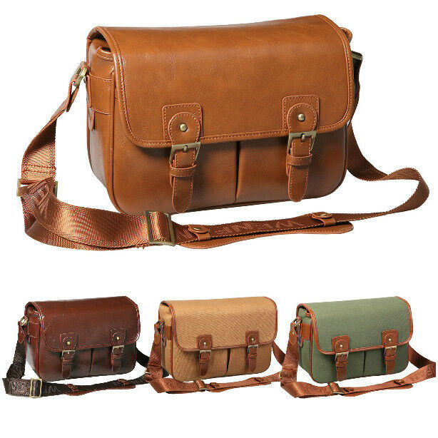 Waterproof DSLR Camera Shoulder Bag Messenger bag + Padded Insert Men Women Bag
