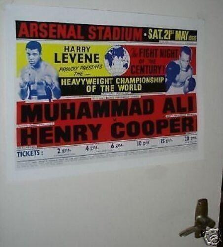 Muhammad Ali Henry Cooper II Arsenal Repro Door Poster