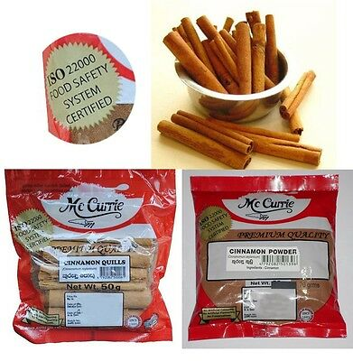 Pure Quality Sri Lanka Cinnamon Quills / Powder Sealed packet Ceylon Stick Spice