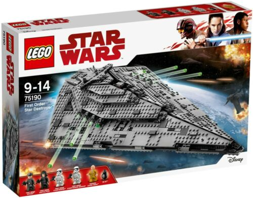 2017 LEGO STAR WARS:TLJ SET #75190 FIRST ORDER STAR DESTROYER NIB XMAS RARE!