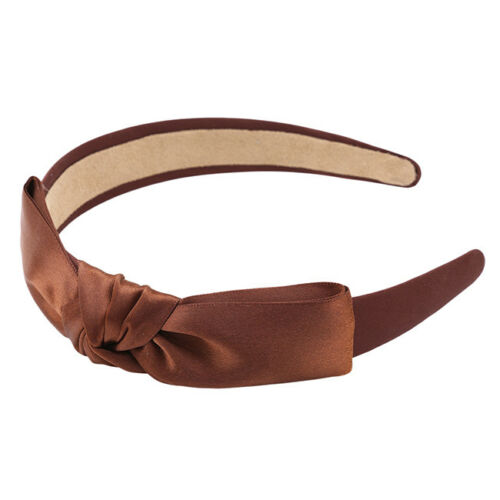 Lady Girls Solid Color Sweet Big Bow Ribbon Headband Hair Band Hair Accessory 6A