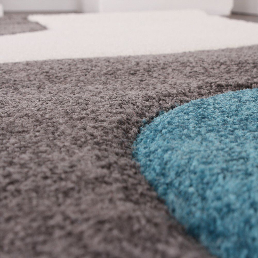 Designer Rug Waves Modern Stylish Soft Carpet in grau Weiß Weiß Weiß Blau Top Quality Mat 9d7104