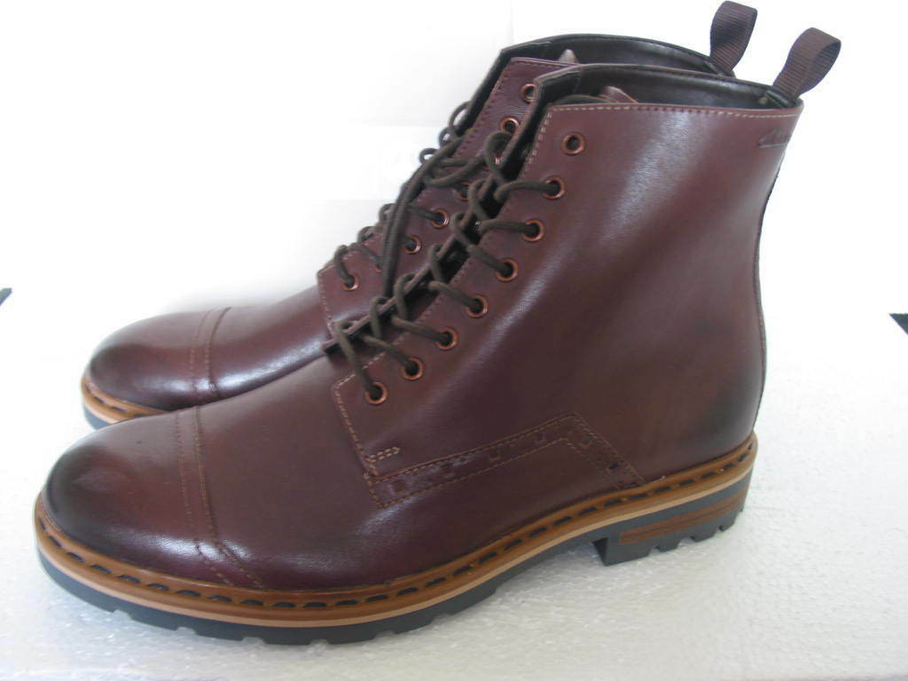 NEW CLARKS NORTON DARGO RISE SOFT BROWN LEATHER BIKER BOOTS VARIOUS SIZES