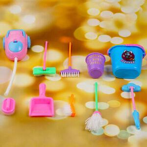 9pcs Lot House Cleaning Mop Broom Dustpan Bucket Tools