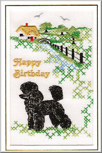 Poodle birthday card embroidered by dogmania free personalisation image is loading poodle birthday card embroidered by dogmania free personalisation bookmarktalkfo Gallery