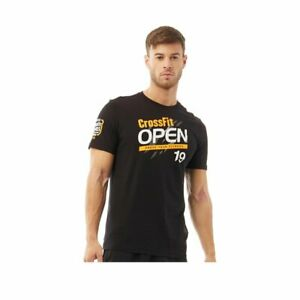 Reebok-Mens-CrossFit-Open-T-Shirt-Black-Gym-Keep-Fit-Running