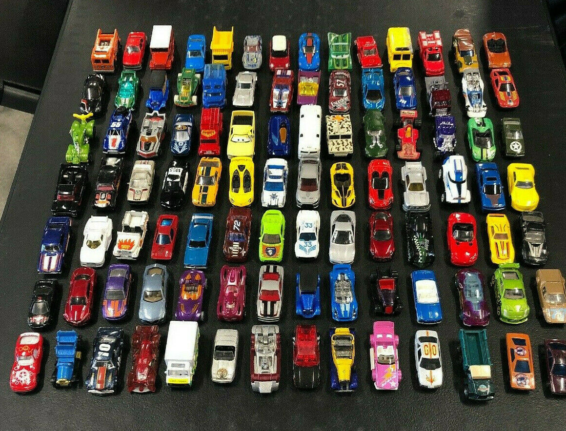 Lot Of 98 Assorted Diecast Toy Cars Hot Wheels Matchbox Soma Delaunay SIM Maisto