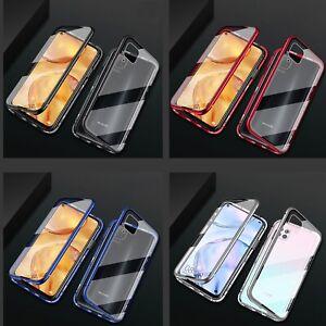 Xiaomi-Redmi-Note-9-360-Magnet-Case-Hulle-Metall-Tasche-doppelt-Schutz-Glas