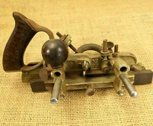 Vintage-Stanley-No-45-Combination-Plow-Plane-Wood-Tool-Woodworking