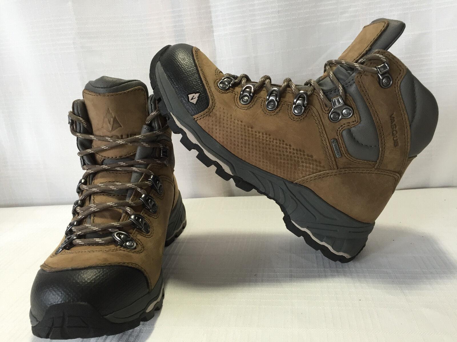 VASQUE ST ELIAS GTX Hiking Stiefel Damens Größe US 7.5M EU 38 Braun Leder 250