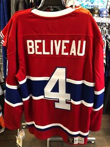 the latest 25a42 6b7c8 Details about Men's Montreal Canadiens Jean Beliveau Hockey Retro Vintage  Heritage NHL Jersey