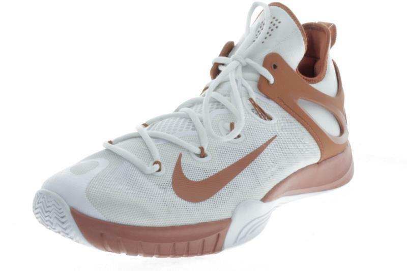 Gli uomini di grandi dimensioni nike hyperrev brown scarpe da ginnastica bianche.