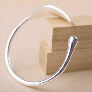 Women-039-s-Cuff-Bracelet-Open-Leaf-Bangle-Wristband-Silver-Tone-Jewelry-Gifts-LE