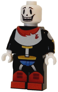 Details about **NEW** LEGO Custom Printed - UNDERTALE PAPYRUS - Video Game  Minifigure
