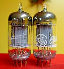 1956 GE General Electric 12AU7A PLATINUM GRADE Preamp Tubes Matched Pair = ECC82