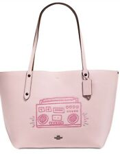 Coach X Keith Haring Barking Dog Large Tote in Chalk Leather 11767 BNWT