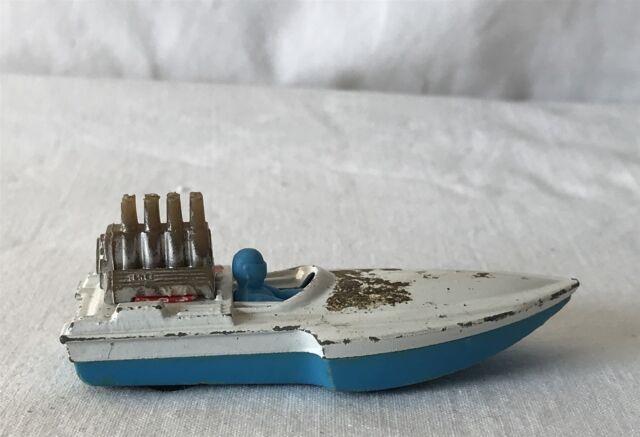 Vintage Matchbox Lesney Superfast No 5 Seafire 1975 bateau jouet
