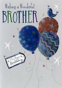 Image Is Loading Wonderful Brother Birthday Greeting Card Second Nature Daydreams