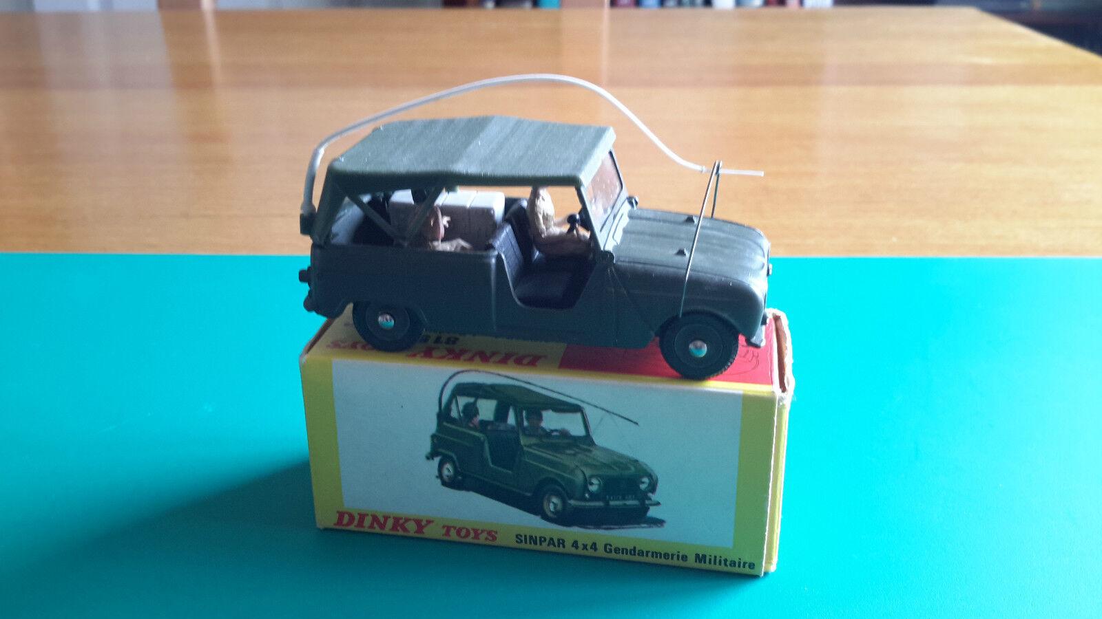 Vintage French Dinky  815 sinpar 4 x 4 Gendarmerie militaire & boxed Lot 1