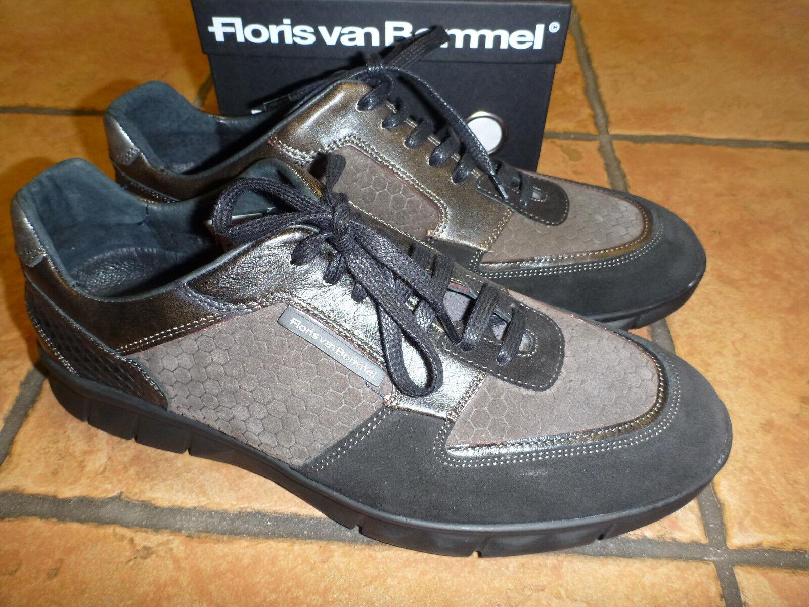 Original Floris van Bommel Sneaker, Schnürer, schwarz, Gr. 10,5,NEU & ungetragen
