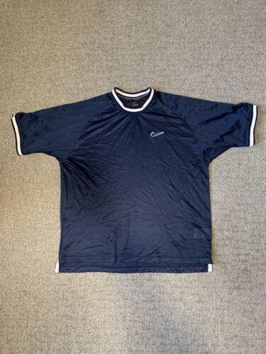 Vintage Nike Mesh Jersey Shirt Blue Medium