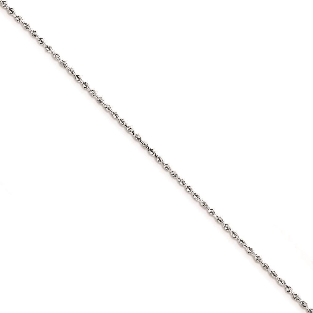 10K White gold 2.00 MM Diamond-cut Quadruple Rope Bracelet MSRP  238