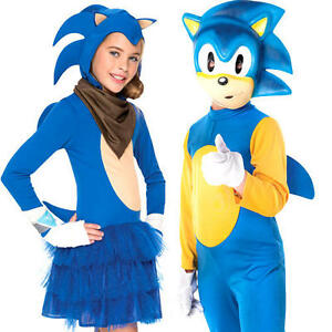 Image is loading Sonic-The-Hedgehog-Kids-Fancy-Dress-Sega-Video-  sc 1 st  eBay & Sonic The Hedgehog Kids Fancy Dress Sega Video Game 80s Childrens ...