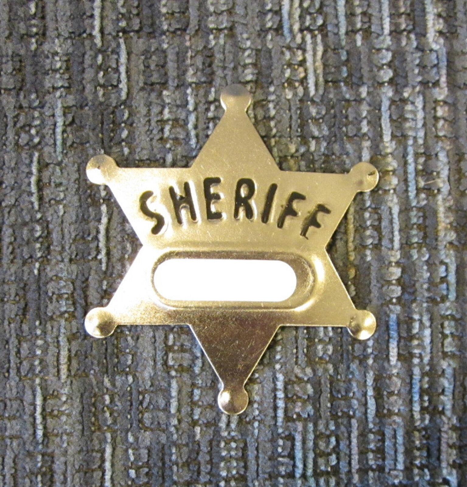 100 Nuevo Juguete Sheriff Insignias metálicas de plata de Vaquero Sheriff Badge favores de partido