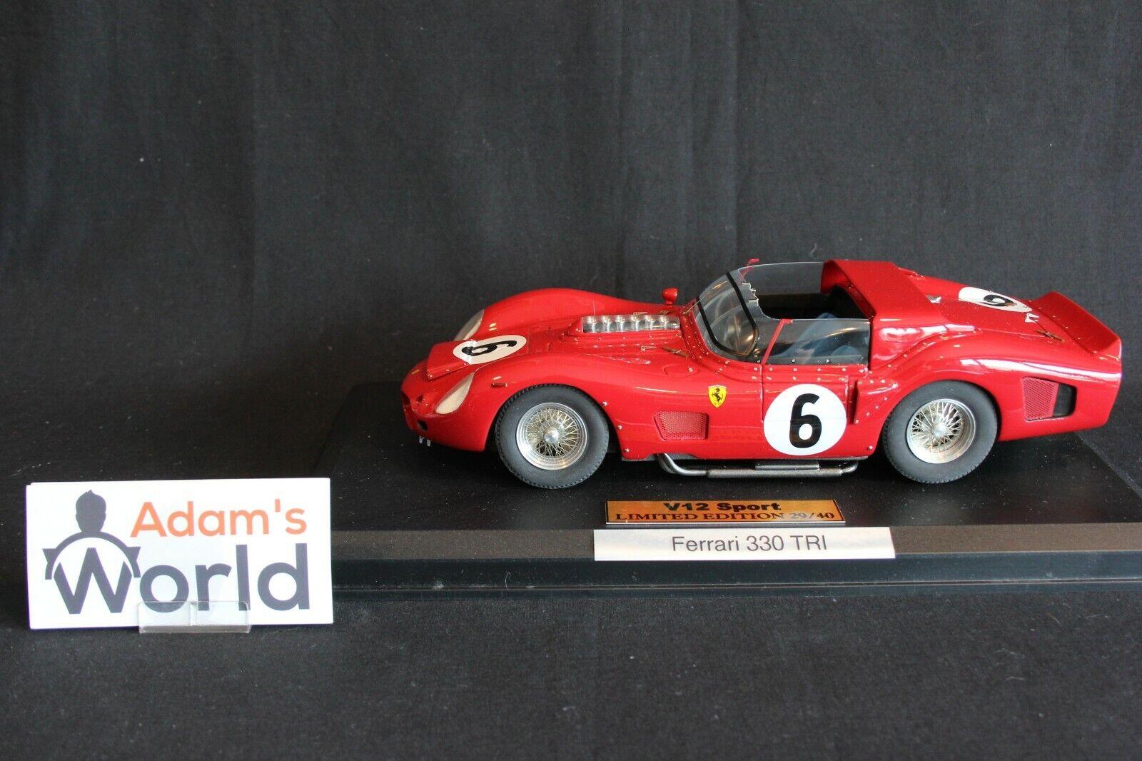 V12 Sport Ferrari 330 TRI 1 18 Gendebien   Hill vinnare 24h LM 1962 (PJBB)