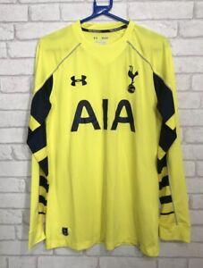 Tottenham-Hotspurs-Spurs-UNDER-ARMOUR-manches-longues-jaune-Shirt-Medium-2015-16