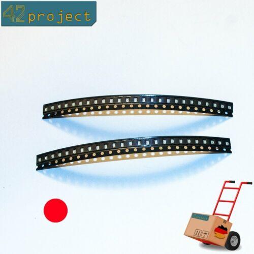 0805 Rot 20mA @ 2V Low-Mid Power SMT LEDs 50 Stück SMD LED 2012
