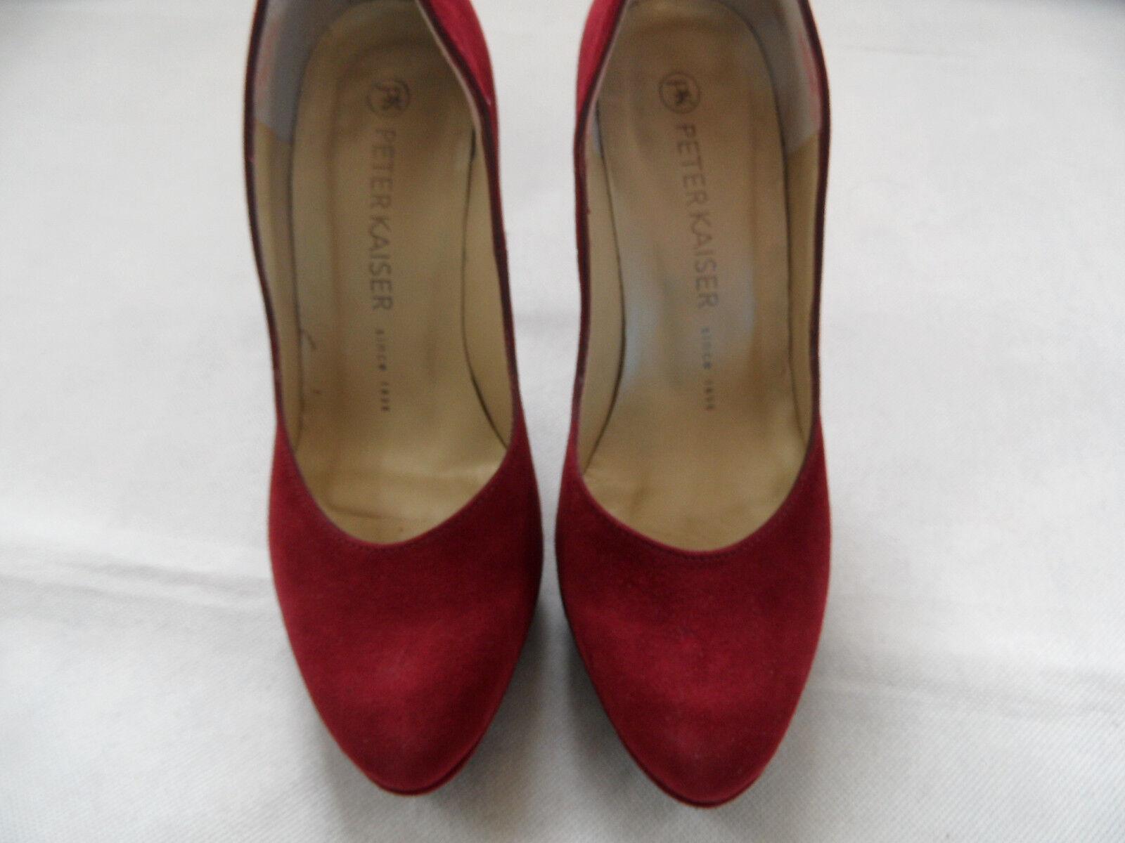 PETER KAISER stylische High Heels Heels Heels Pumps Nubukleder bordeaux Gr.2/34,5 NEU PCl918 30202f