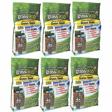 6 Pack Grassology Grass Seed