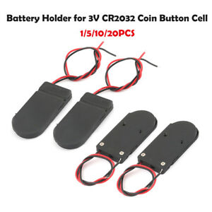 1-5-10-20x-Battery-Holder-Case-With-On-Off-Switch-Box-CR2032-3V-Button-Coin-Cell