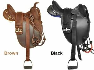 Synthetic-Suede-Australian-Stock-Horse-Saddle-With-Matching-Girth-All-Size