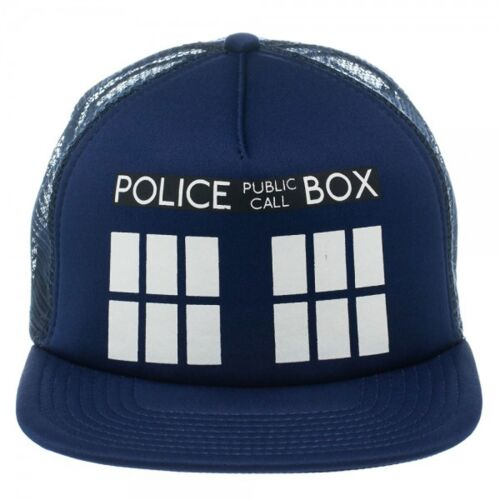 Fantastico BBC CHE TARDIS Camionista DR Mesh Cappellino Hat Nuovo di Zecca *