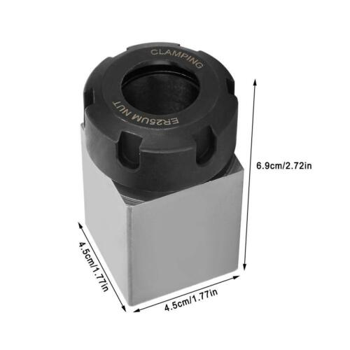 ER-25 Square Collet Block Chuck Holder For CNC Lathe Grinders Tool