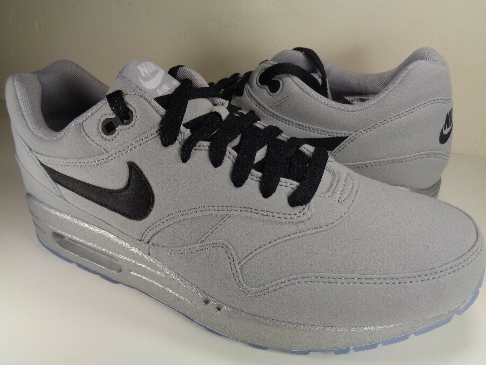 Nike Air Max 1 Premium iD Grey Black Silver Suede Price reduction Cheap and beautiful fashion
