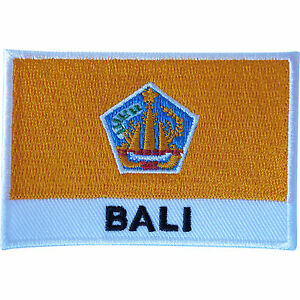 Details About Bali Flag Patch Sew On Cloth Jacket Jeans Shirt Bag Embroidered Indonesia Badge